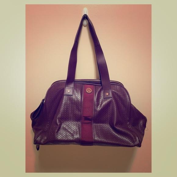 Burgundy lululemon Gym/Travel Bag